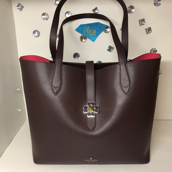 kate spade Handbags - KATE♠️SPADE KACI BURGUNDY LEATHER MEDIUM TOTE NWT